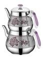Özkent Kristal Mini Desenli Çaydanlık Lila Mor